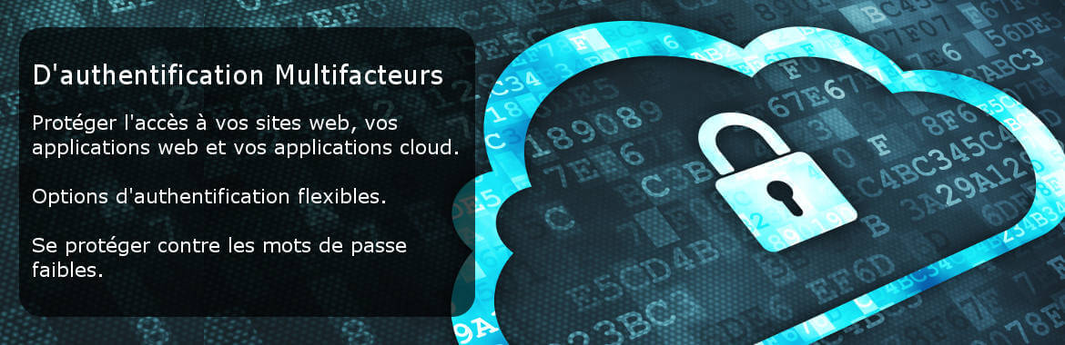 Authentification multifactorielle Protégez l'accès à vos sites et applis Internet, et à vos applications cloud. Options d'authentification flexibles. Protection contre les connexions avec mot de passe faible.